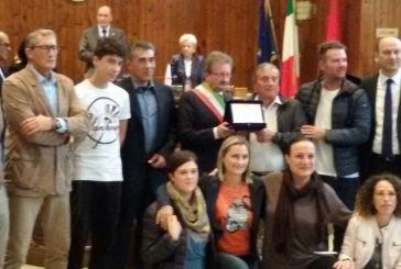 Nel corso del Consiglio comunale consegnati i riconoscimenti al merito sportivo