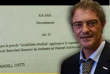 Al Senato il sì all'emendamento Castaldi (M5S) sul recupero dei tratti ferroviari dismessi