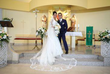 Auguri agli sposi Pina e Valerio