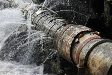 Rottura condotta idrica, sospesa l'erogazione dell'acqua