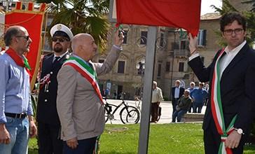 Il Sindaco di Vasto Francesco Menna ed il 25 Aprile
