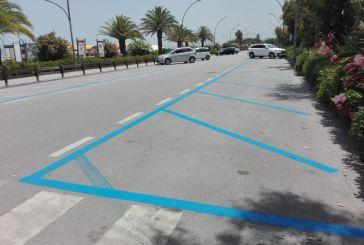 Parcheggi alla Marina: da oggi tornano le strisce blu