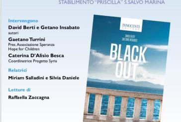 """Stasera la presentazione del romanzo """"Black out"""""""
