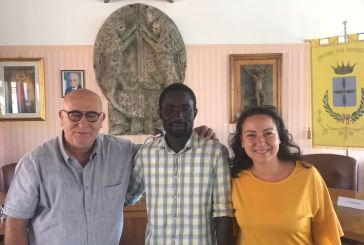 Il sindaco Marinucci e Djibril Mbengue ospiti stamane a