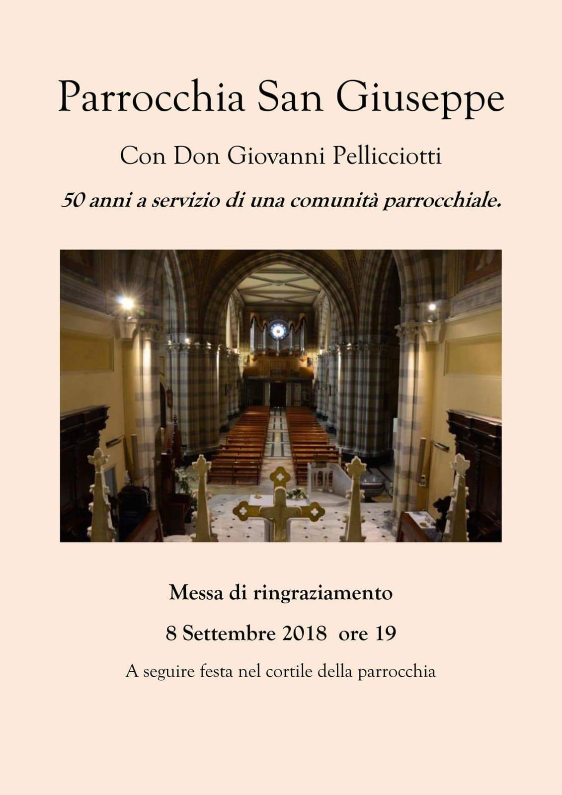 buy online 59416 fe8d3 I 50 anni di sacerdozio di Don Giovanni Pellicciotti | Il ...