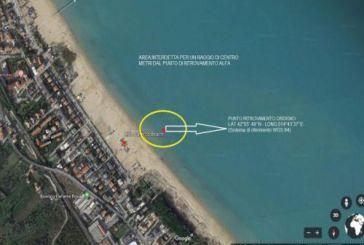 Presunto ordigno bellico a 15 metri dalla riva di Vasto Marina