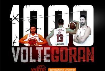 Goran Oluic sfonda il muro dei 1000 punti con i colori della Vasto Basket
