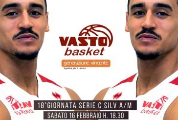 Vasto Basket, sabato anticipo di campionato