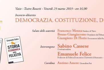 """""""Viaggio nella Casa Comune"""", oggi Sabino Cassese e Emanuele Felice"""