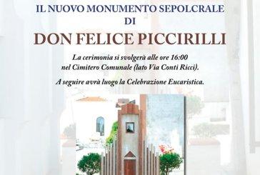 Oggi l'inaugurazione e la benedizione del nuovo monumento sepolcrale di Don Felice Piccirilli