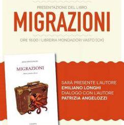 """""""Migrazioni"""", oggi la presentazione dell'ultimo libro di Emiliano Longhi"""