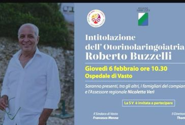 Stamane l'intitolazione del reparto di Otorinolaringoiatria a Roberto Buzzelli
