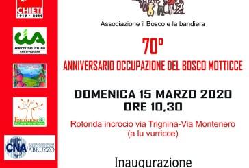 A San Salvo la celebrazione del 70° anniversario dell'occupazione del Bosco Motticce