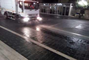 Sanificazione e pulizia strade, a San Salvo prosegue il servizio