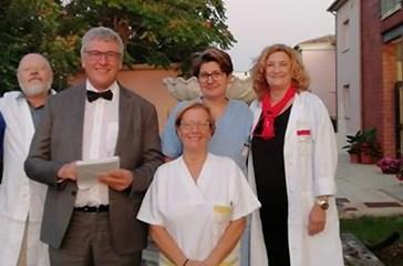 Gli infermieri e gli Oss dell'Hospice Alba Chiara donano il bonus del decreto