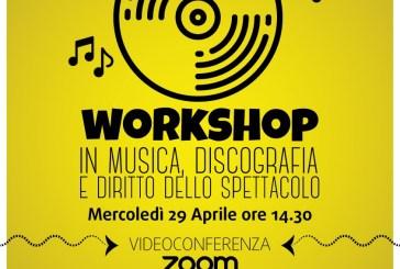 Progetto Giovani attività on line, appuntamento con Fabio Falcone e il workshop in Musica, Discografia e Diritto dello Spettacolo