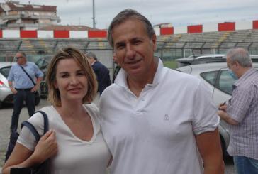 Mikaela Calcagno e Gianluca Paparesta al battesimo di Massimo Agovino