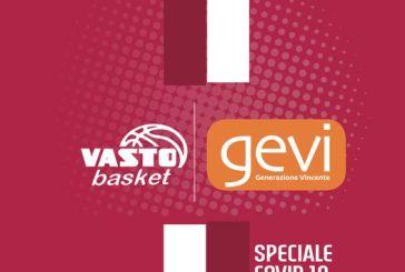 Vasto Basket, fino al 24 novembre sospese le attività giovanili