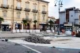 Casalbordino, iniziata la posa della pavimentazione di Piazza Umberto 1°