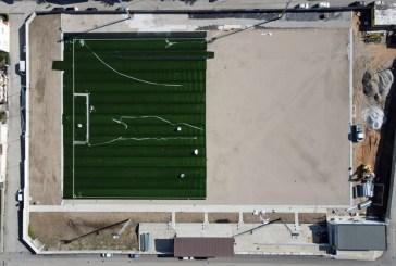 Proseguono i lavori del campo sportivo con erba sintetica