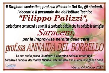 Il Palizzi di Vasto piange la scomparsa della Prof.ssa Annaida Del Borrello