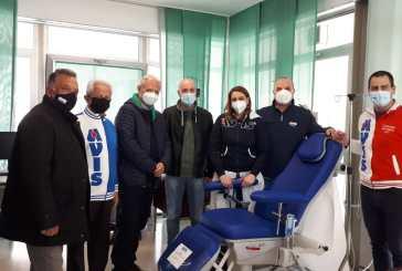 Le Avis del territorio consegnano due nuove poltrone al Centro Trasfusionale del San Pio di Vasto
