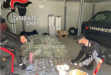 Trovato con 100 chili di droga,barese arrestato nel chietino