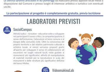 Montenero, al via le iscrizioni ai ragazzi dai 6 ai 13 anni per le attività estive del progetto EduCare M.O.L.I.S.E.
