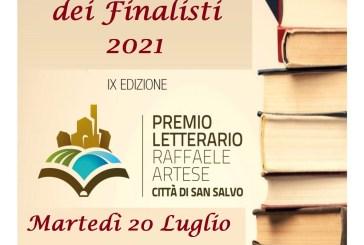 Stasera gli 8 finalisti del Premio Letterario