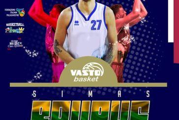 Alla Vasto Basket arriva il lituano Simas Raupys