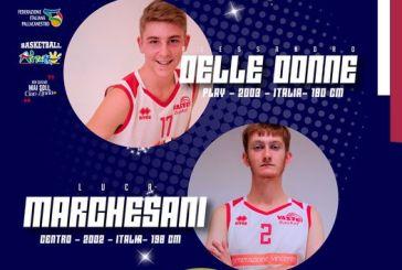 Vasto Basket, Alessandro Delle Donne e Luca Marchesani chiudono il Roster
