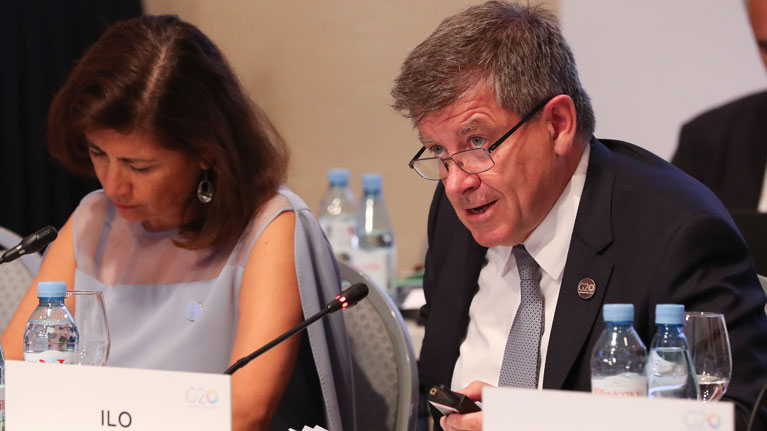 International Labour Organization ILO Director General praises G20 commitment on future of work