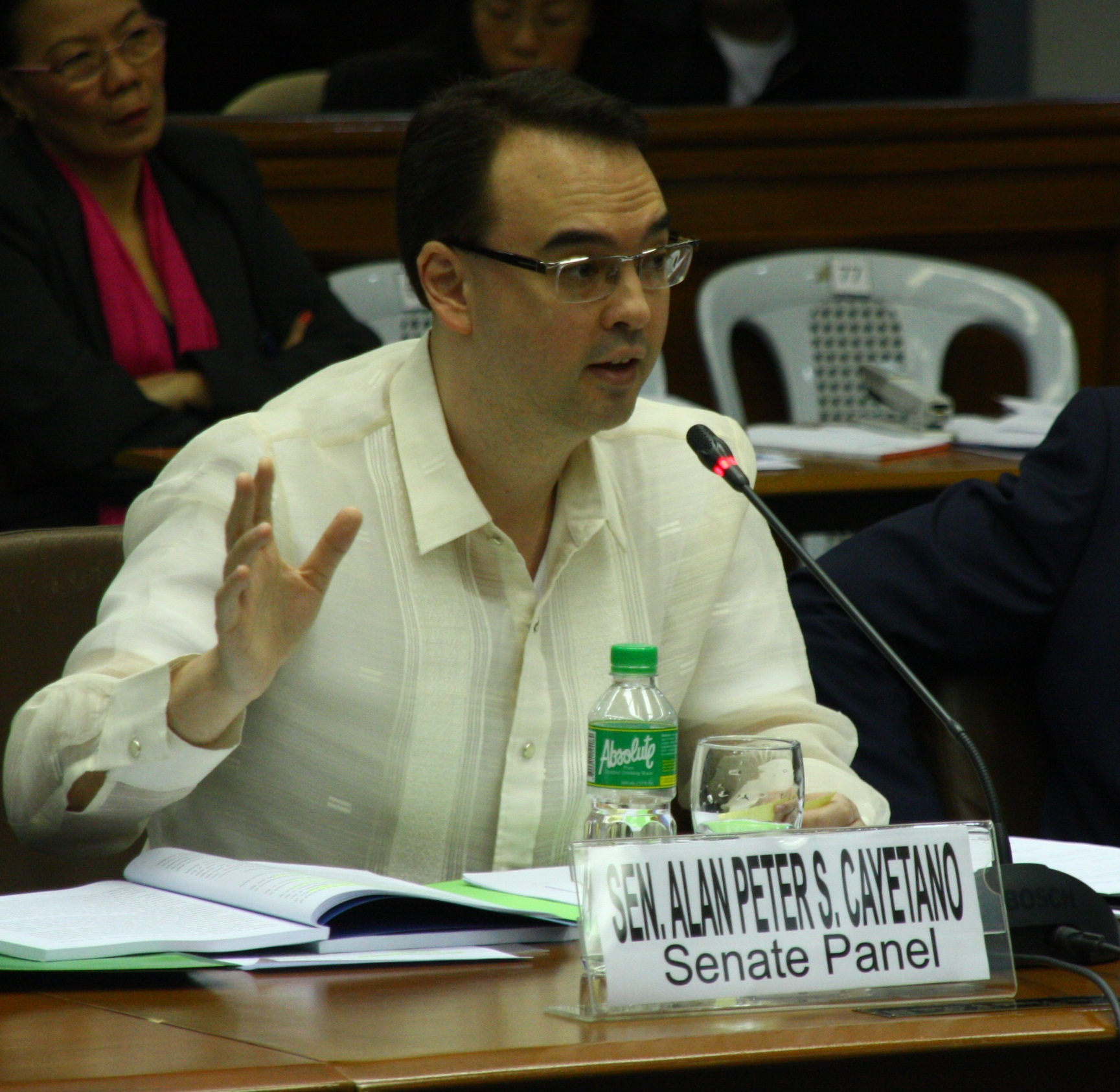 Sen. Alan Peter S. Cayetano during the Joint Congressional Oversight Committee on Automated Election System