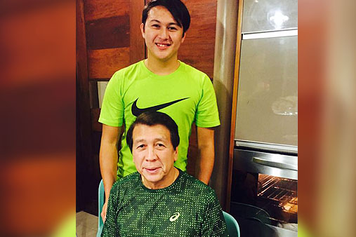 JR Farinas with Dad