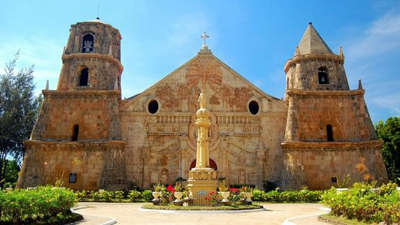 """The Miag-ao Church, or Church of Santo Tomas de Villanueva, was built in 1786 by Spanish Augustinian missionaries and was declared as part of the UNESCO World Heritage Site """"Baroque Churches of the Philippines"""" in 1993."""
