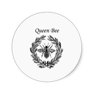 Vintage Queen Bee Stickers