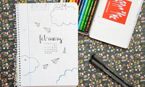 bullet_journal-1 inspiratie februari maandoverzicht