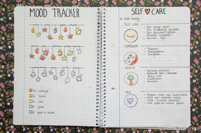 bullet journal 2 mood tracker depressie