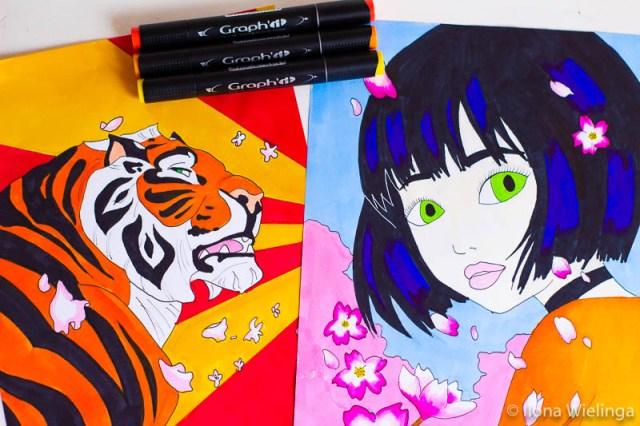 inspiratie markers 3 tijger chinese meid
