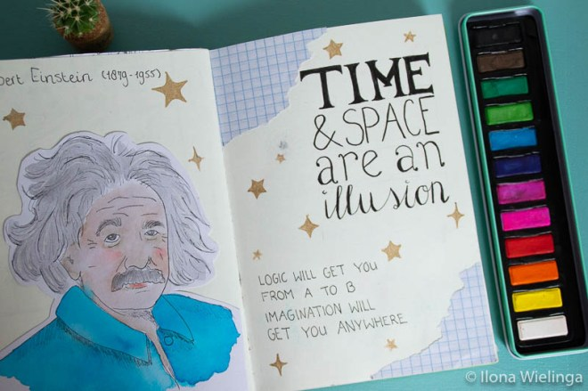 art journal 3 albert einstein quote