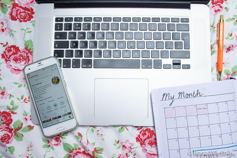 laptop instagram bullet journal