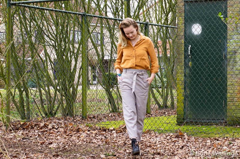 outfit 3 paperbagbroek H&M okergele blouse Primark