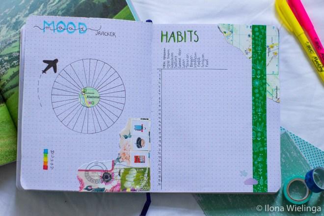 bullet journal moodtracker habit tracker