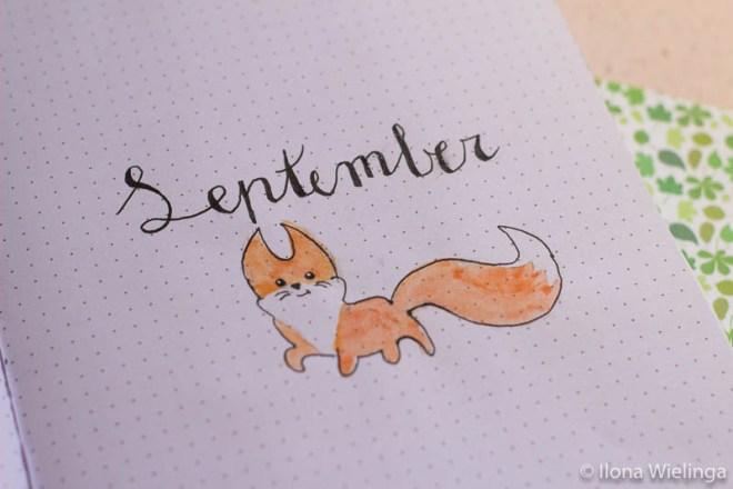 bullet journal september fox autumn herfst