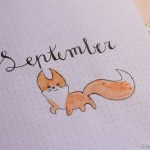 bullet journal september fox autumn herfst