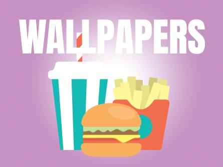 wallpapers junk food