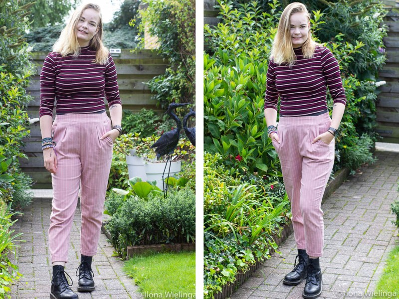outfit 3 roze broek en shirt