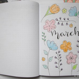 bullet journal maart march bloemen 1