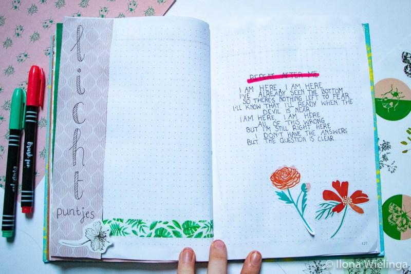 bullet journal maart bloemen 5