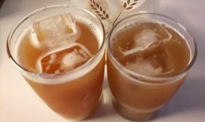 apelsiini-laimi jäätee
